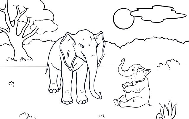 ellie and lou printable coloring page
