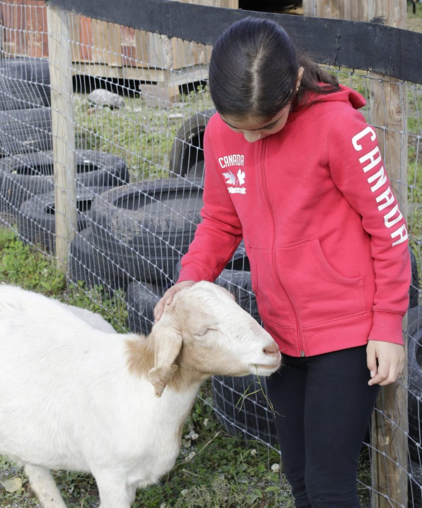 kiana children book author with goat