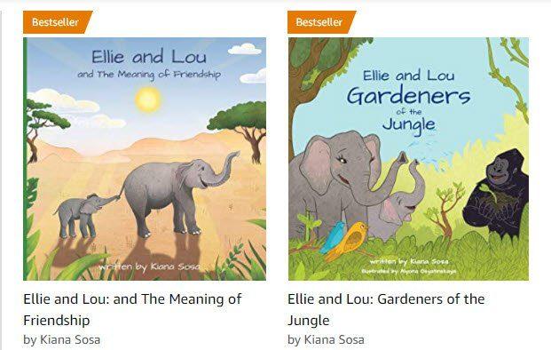 Ellie and Lou children books bestseller Kiana Sosa