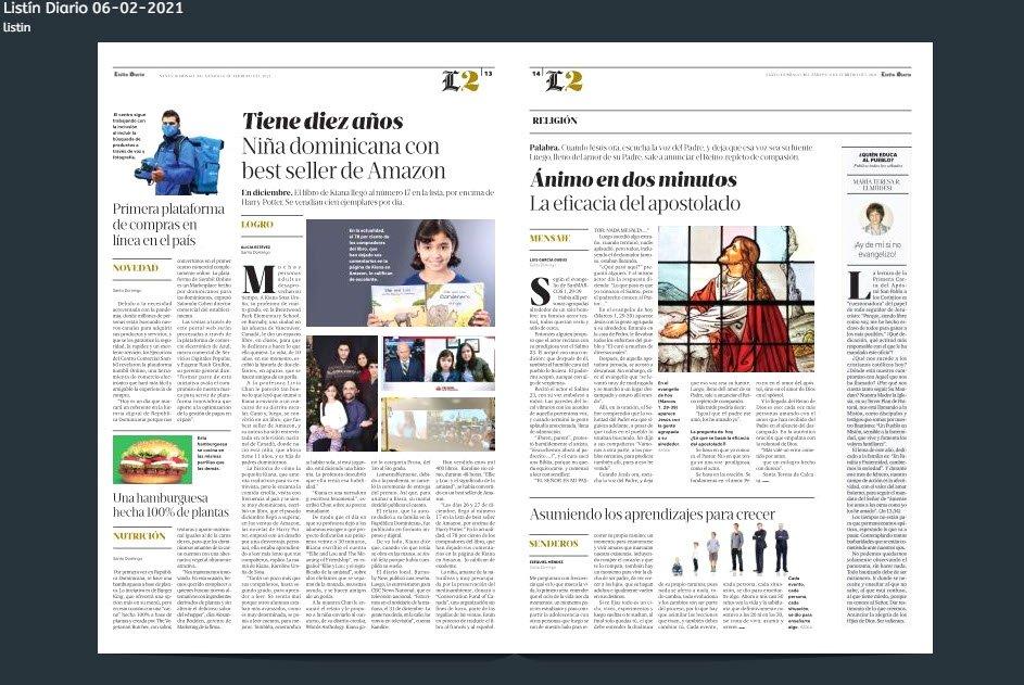 Kiana Sosa - Author- interview Listin Diario